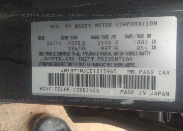 JM1BM1W30E1215965 2014 MAZDA MAZDA3