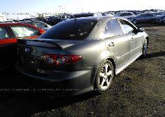 2004 MAZDA 6 - 1YVHP80D745N83699 rear view