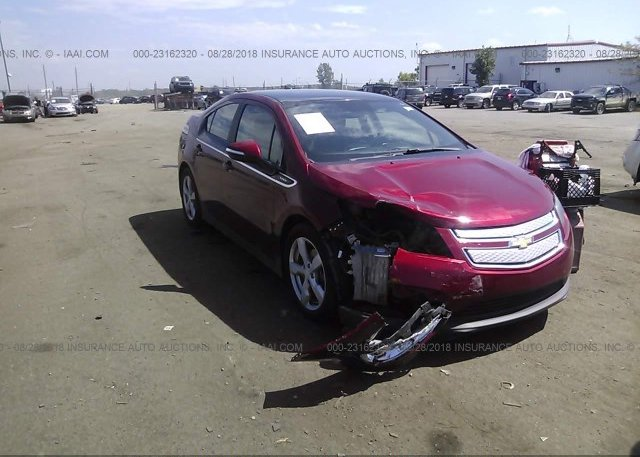 1g1rb6e45eu147357 Salvage Gray Chevrolet Volt At Nashville Tn On