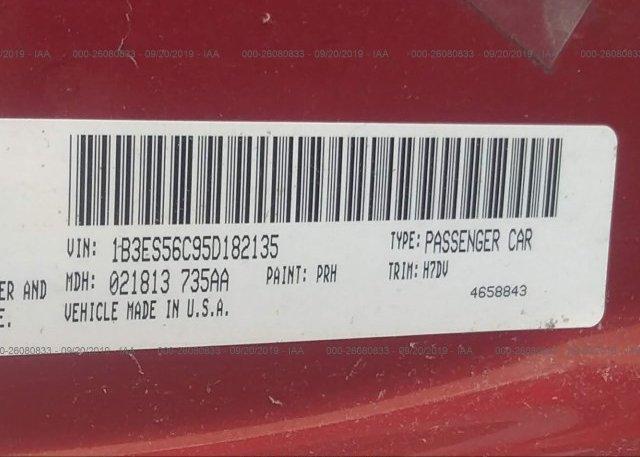 2005 Dodge NEON - 1B3ES56C95D182135