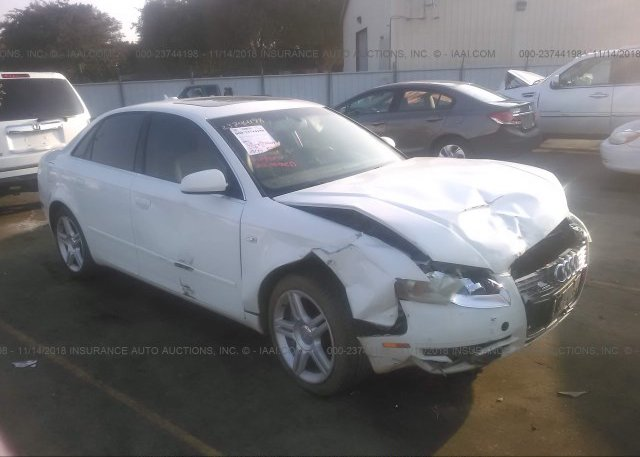WAUDF78E06A152854 Salvage Certificate White Audi A4 At FRESNO CA