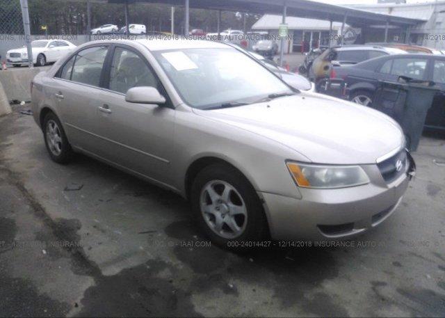 Inventory #443650105 2007 Hyundai SONATA