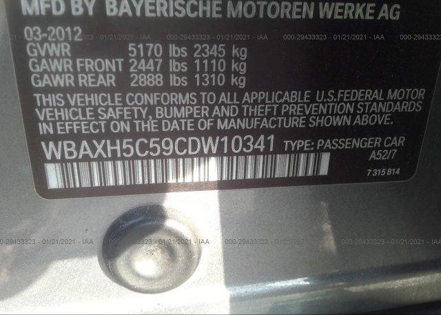 WBAXH5C59CDW10341 2012 BMW 5 SERIES
