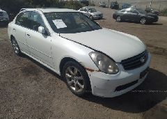 Salvage G35 Infiniti Car for Sale Online Auto Auction
