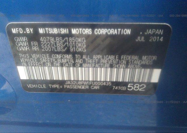 JA32U8FW1FU000435 2015 MITSUBISHI LANCER
