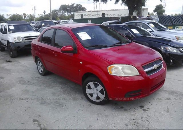 Kl1td56628b089944 Clear Red Chevrolet Aveo At Clearwater Fl On