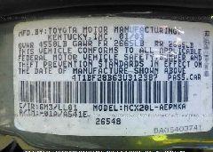 2003 Toyota AVALON - 4T1BF28B63U312387 engine view