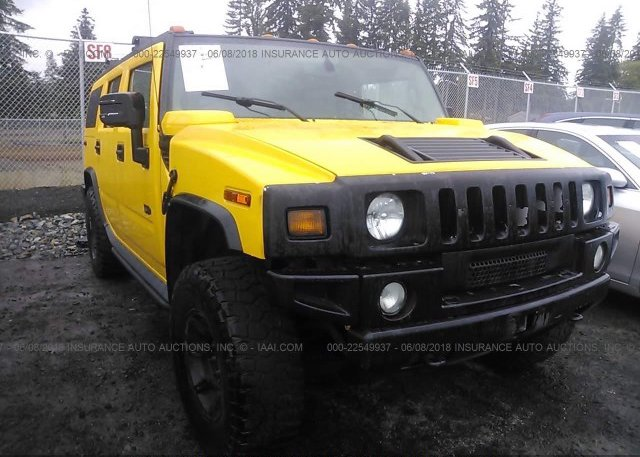 5grgn23u96h120043 Salvage White Hummer H2 At East Dundee Il On