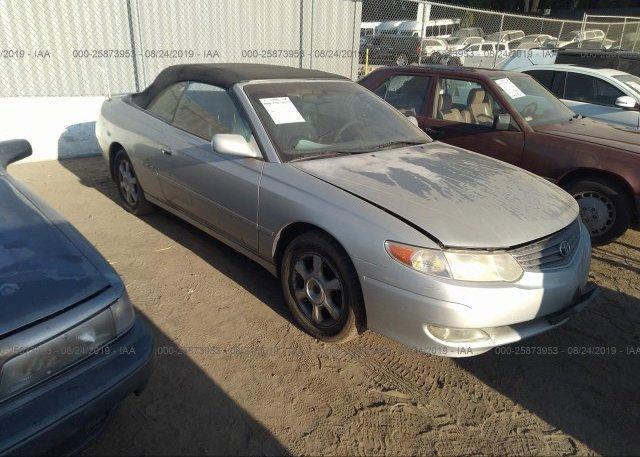 Inventory #325862807 2002 Toyota CAMRY SOLARA