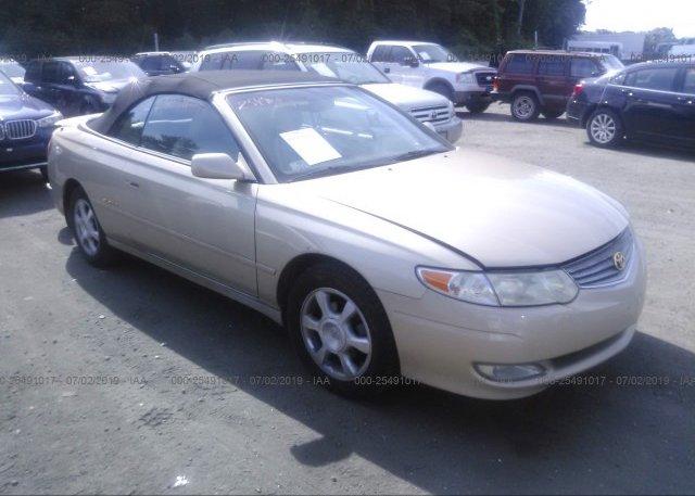 Inventory #616624949 2002 Toyota CAMRY SOLARA