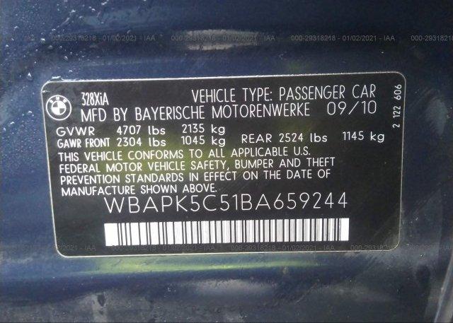 WBAPK5C51BA659244 2011 BMW 3 SERIES