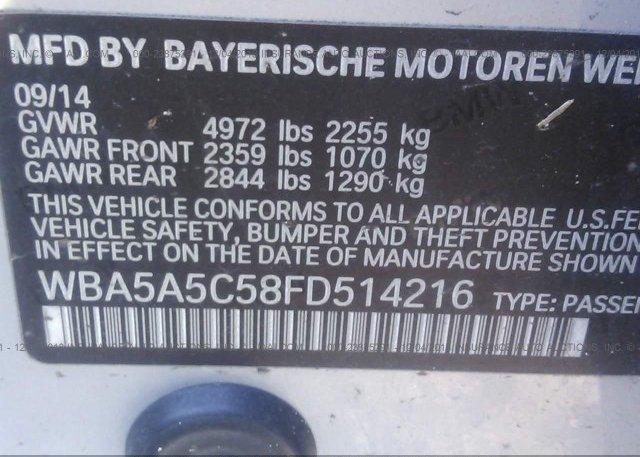 2015 BMW 528 - WBA5A5C58FD514216