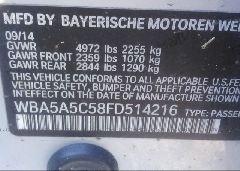 2015 BMW 528 - WBA5A5C58FD514216 engine view