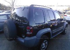 2006 JEEP LIBERTY - 1J4GL48K76W122583 rear view
