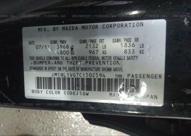 JM1BL1VG7C1502594 2012 MAZDA MAZDA3
