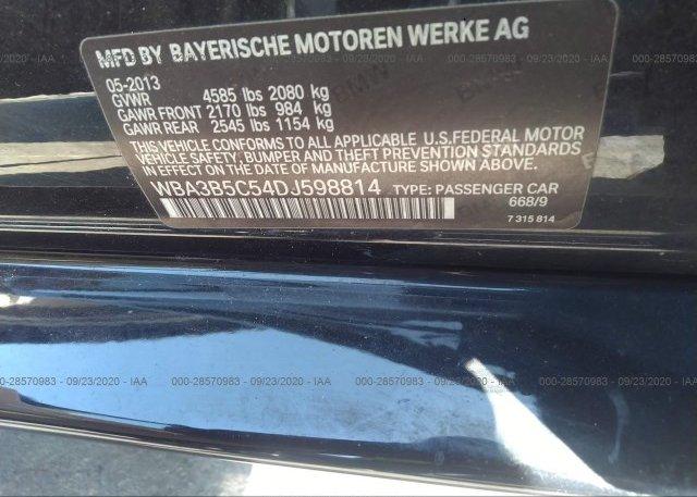 WBA3B5C54DJ598814 2013 BMW 3 SERIES