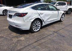 2019 TESLA MODEL 3 - 5YJ3E1EA5KF301096 rear view
