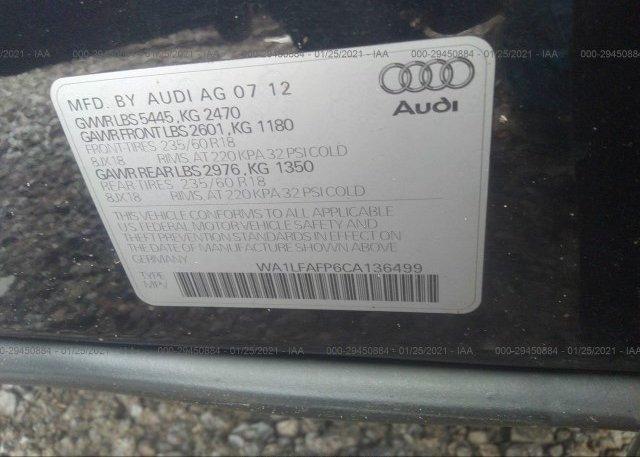 WA1LFAFP6CA136499 2012 AUDI Q5