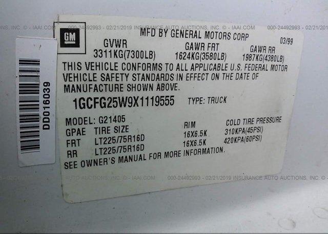 1999 Chevrolet EXPRESS G2500 - 1GCFG25W9X1119555