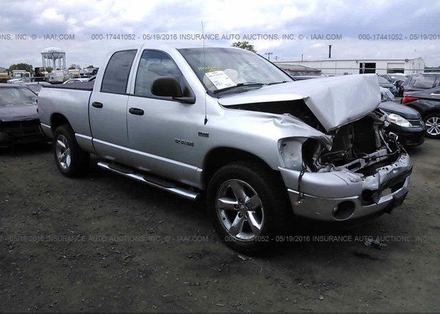 1D7HU18218S575202, Salvage silver Dodge Ram 1500 at