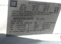 2014 Chevrolet EXPRESS G2500 - 1GCWGFCA0E1203873 engine view