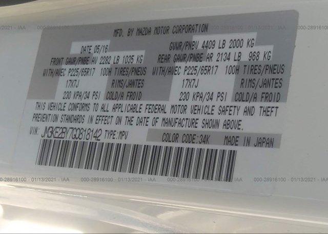 JM3KE2BY7G0818142 2016 MAZDA CX-5