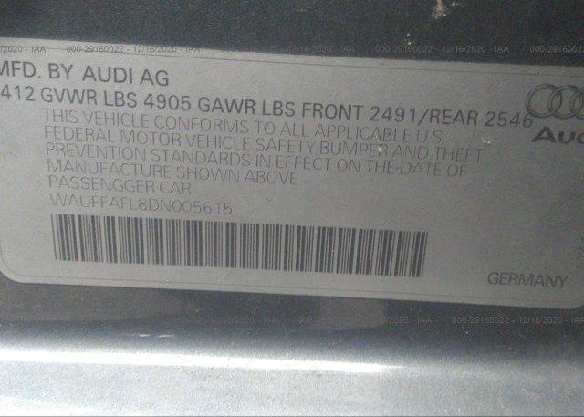 WAUFFAFL8DN005615 2013 AUDI A4