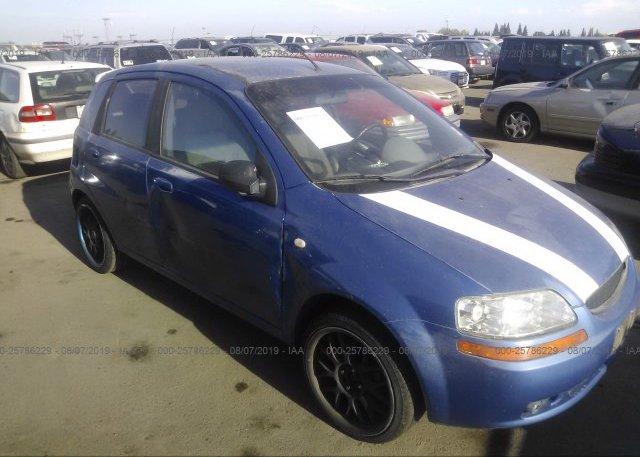 Inventory #956924237 2005 Chevrolet AVEO