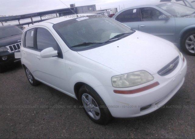 Kl1td62655b410804 Clear White Chevrolet Aveo At Chandler Az On