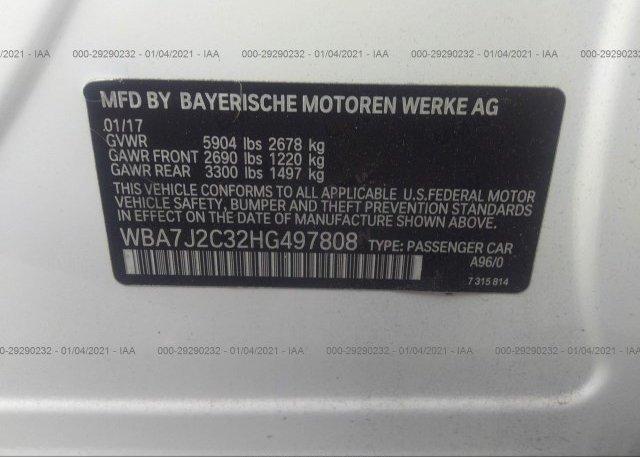 WBA7J2C32HG497808 2017 BMW 7 SERIES