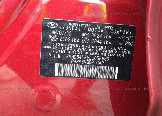 KMHD84LF5LU056686 2020 HYUNDAI ELANTRA