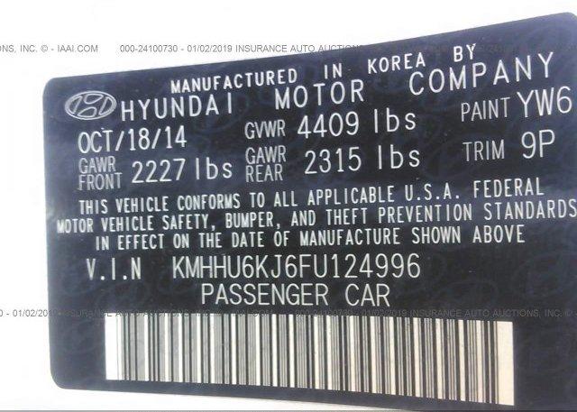 2015 HYUNDAI GENESIS COUPE - KMHHU6KJ6FU124996