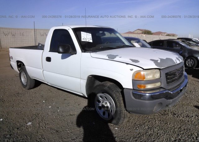 Sierra Auto Auction >> 3gtek14v97g171363 Salvage White Gmc New Sierra At Phoenix