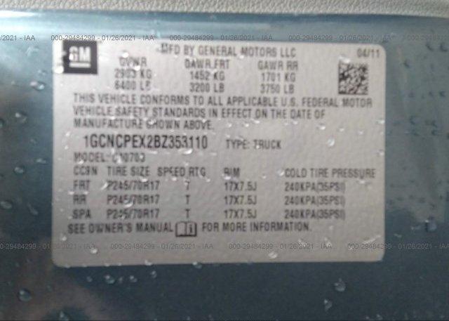 1GCNCPEX2BZ353110 2011 CHEVROLET SILVERADO 1500