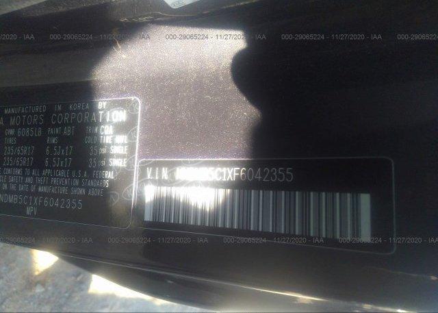 KNDMB5C1XF6042355 2015 KIA SEDONA