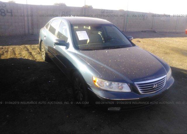 Kmhfc46f59a370027 Salvage Blue Hyundai Azera At Phoenix Az On