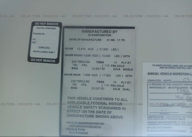 2012 IC CORPORATION 3000 - 4DRAMAANXCB536256