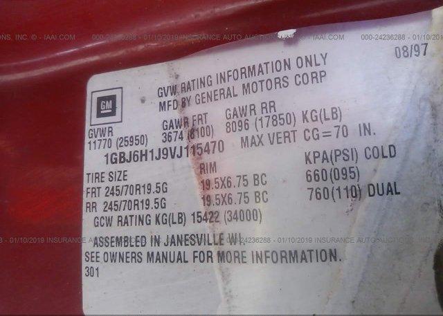 1997 CHEVROLET C-SERIES - 1GBJ6H1J9VJ115470