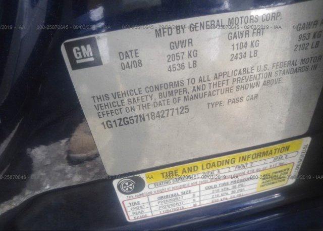 2008 Chevrolet MALIBU - 1G1ZG57N184277125