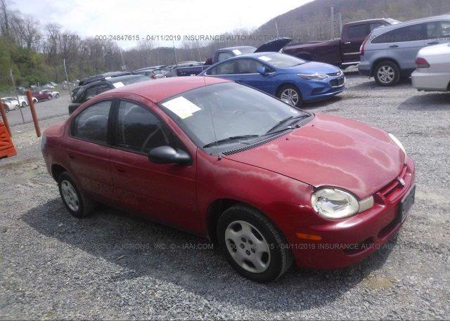 Inventory #825693739 2002 Dodge NEON