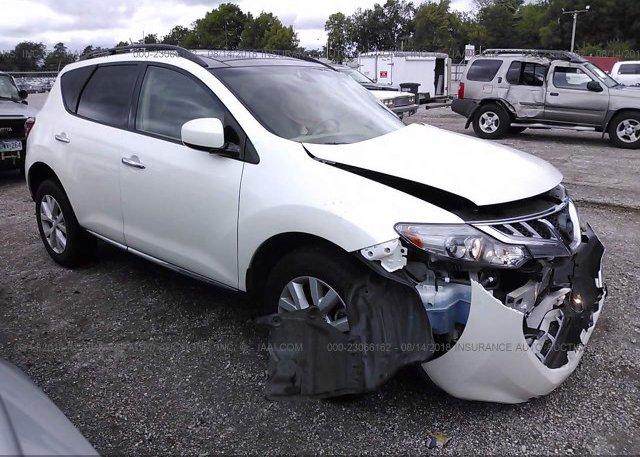 Jn8az1mu2cw104217 Salvage White Nissan Murano At Springfield Mo On