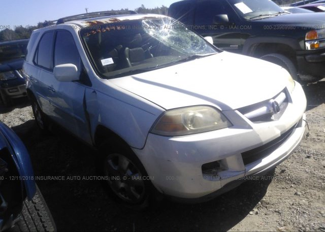 2HNYD18226H513834 Rebuildable White Acura Mdx At MILTON FL On