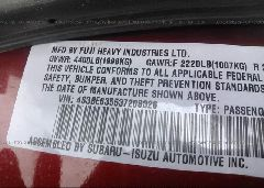 2003 Subaru LEGACY - 4S3BE635537208326 engine view