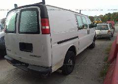 2005 CHEVROLET EXPRESS G2500 - 1GCGG25V251195417 rear view
