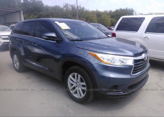 Inventory #537778634 2014 Toyota HIGHLANDER