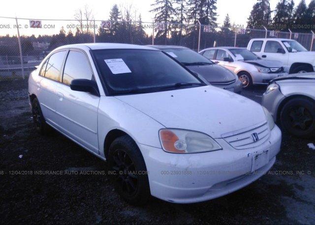 1hges16533l000457 Bill Of Sale White Honda Civic At Puyallup Wa On