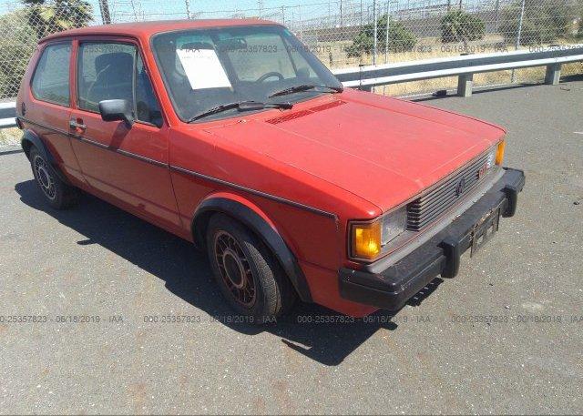 Inventory #252785813 1984 Volkswagen RABBIT