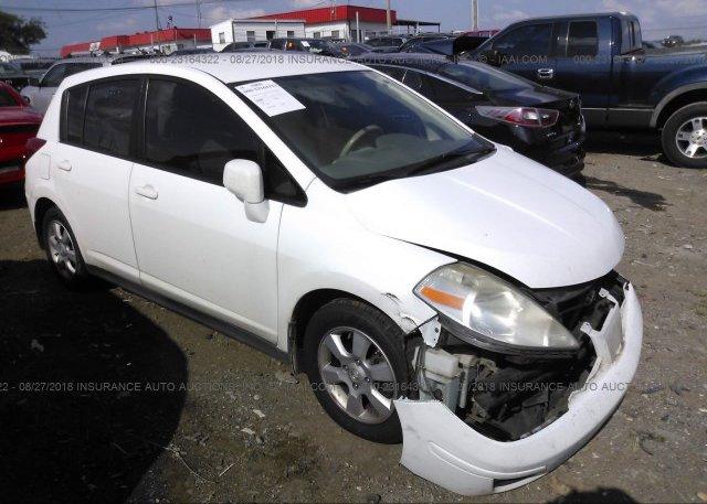 3n1bc13ex7l391493 Salvage White Nissan Versa At Nashville Tn On