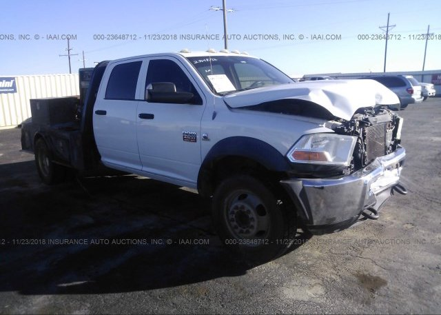 3D6WU6CL3BG616551, Salvage white Dodge Ram 4500 at LUBBOCK