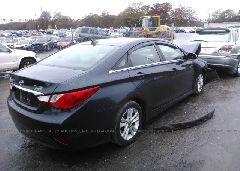 2014 Hyundai SONATA - 5NPEB4AC9EH820765 rear view